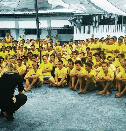 Ruth Speaking in a prison in Manila