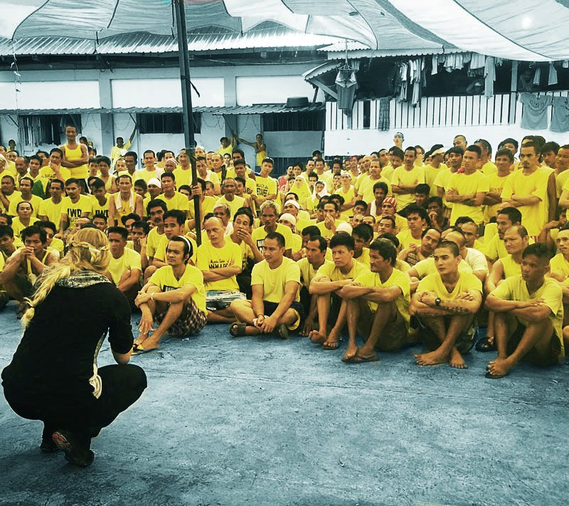 Ruth Speaking in a prison in Manila